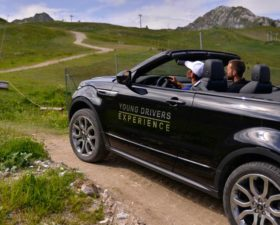 Young Drivers Experience, la plagne, initiation conduite, tout terrain, land rover, rnage rover cabriolet, suv