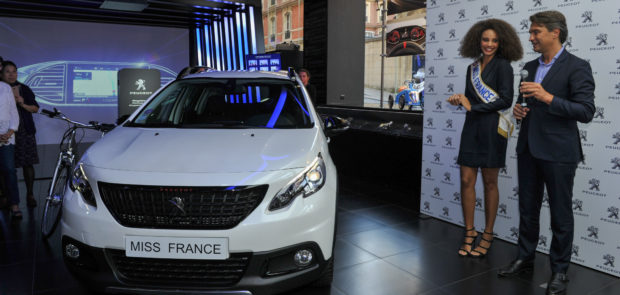 peugeot, 2008, SUV, miss france, alicia aylies, miss france 2017, remise des cles