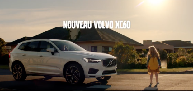 volvo xc60 une pub de haut vol pour la rentr e du suv en concession. Black Bedroom Furniture Sets. Home Design Ideas