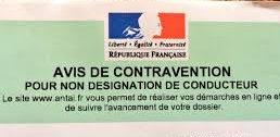 pv, pv non designation conducteur, non designation, pv non designation, amende, securite routiere