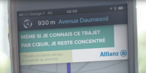 la routine, waze, allianz, securite routiere, accident