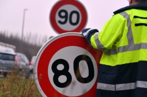 80 km/h, limitation vitesse, abaissement limitation vitesse, securite routiere, mobilisation