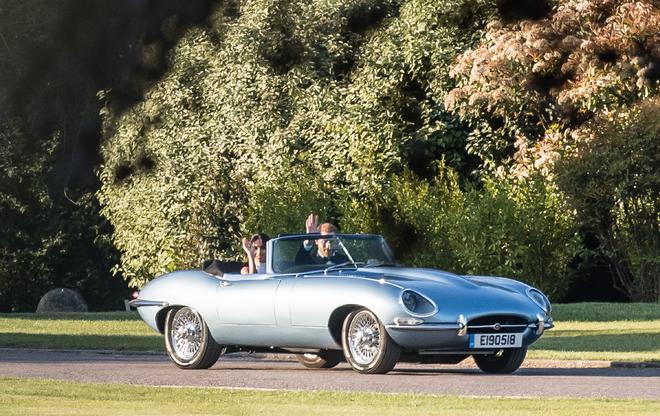 meghan markle, prince harry, mariage, mariage royal, voiture, wedding, royal wedding, rolls royce phantom, jaguar e-type zero