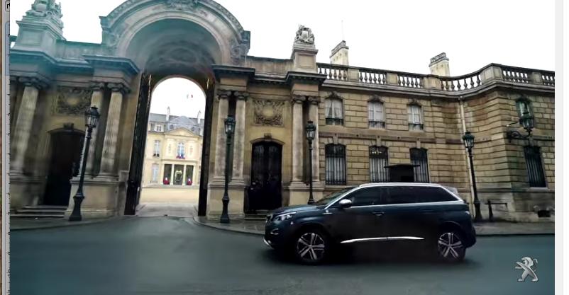 voiture presidentielle, peugeot, peugeot 5008, centigon, voiture blindee, video, suv, emmanuel macron,