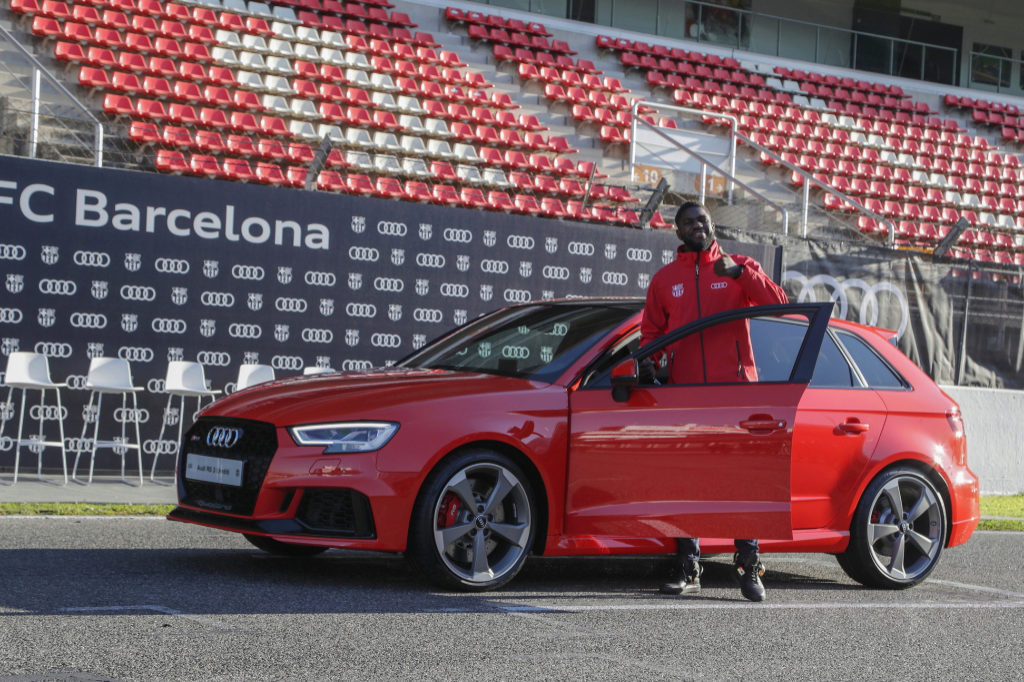samuel umtiti, football, equipe de france, Audi RS3 sportback, mondial 2018, voitures de joueurs, supercar, voiture de sport