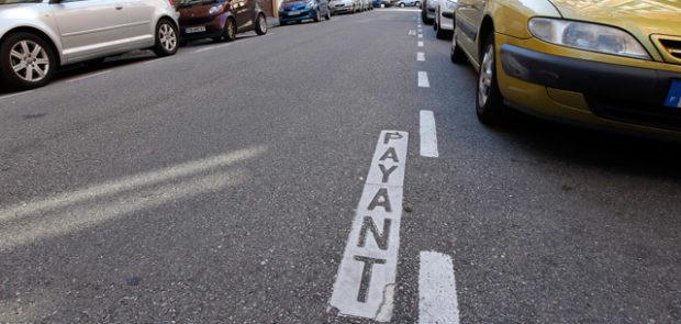 stationnement, stationnement payant, stationnement gratuit, zone bleue, PV, FPS
