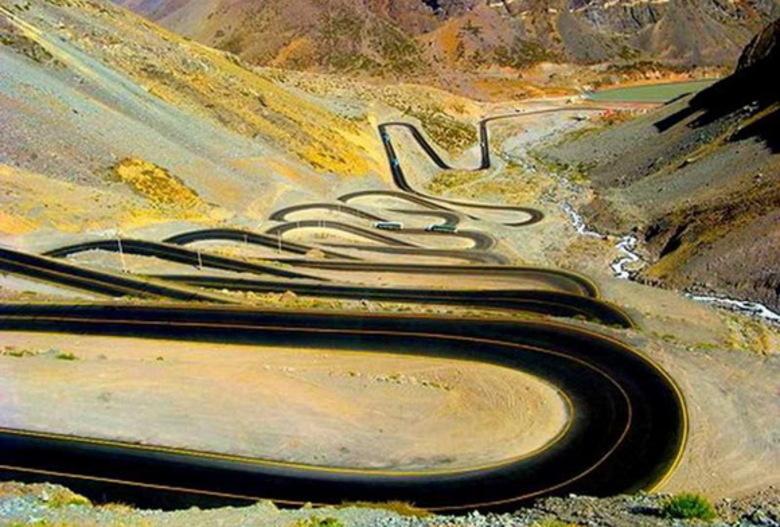 plus belles routes du monde, plus beaux cols, col de montagne, paso internacionales los libertados, cristo redentor, lacet montagne, argentine, chili