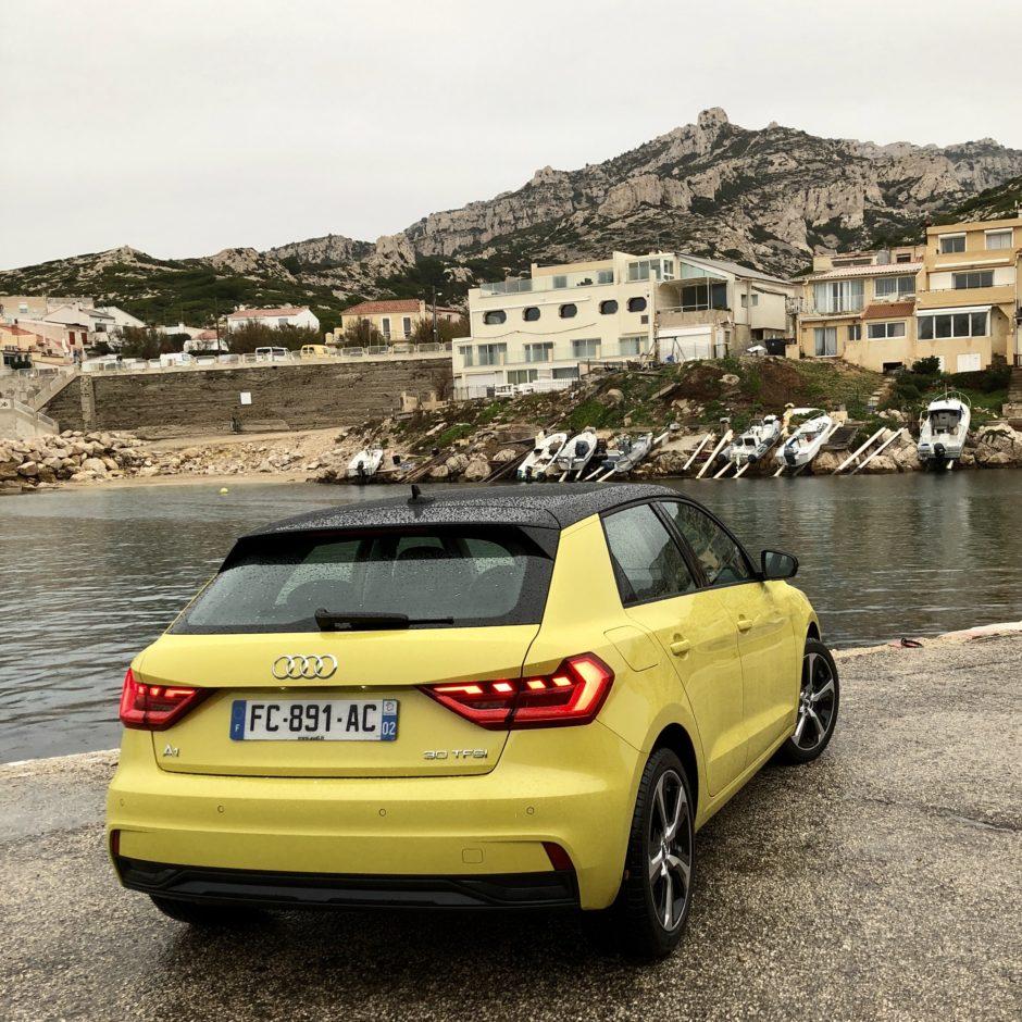 Audi A1, testdrive, essai, citadine, face arrière