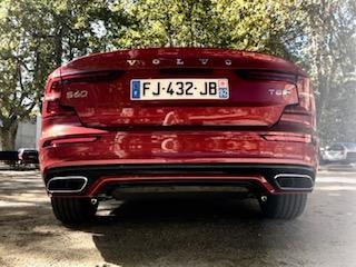 Volvo, S60, berline, vehicule hybride, essai, face arrière