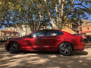 Volvo, S60, berline, vehicule hybride, essai, flanc