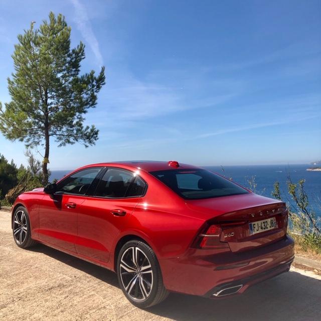 Volvo, volvo S60, S60, berline, vehicule hybride, essai, face arriere