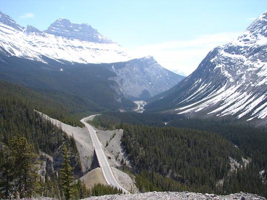 Icefields Parkway, plus belles routes du monde, plus beaux cols du monde, col de montagne, canada