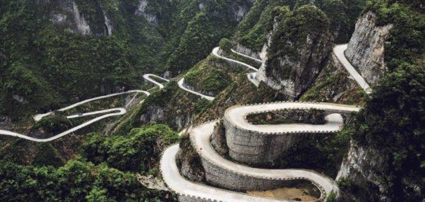 plus belles routes du monde, plus beaux cols du monde, chine, route de tianmen