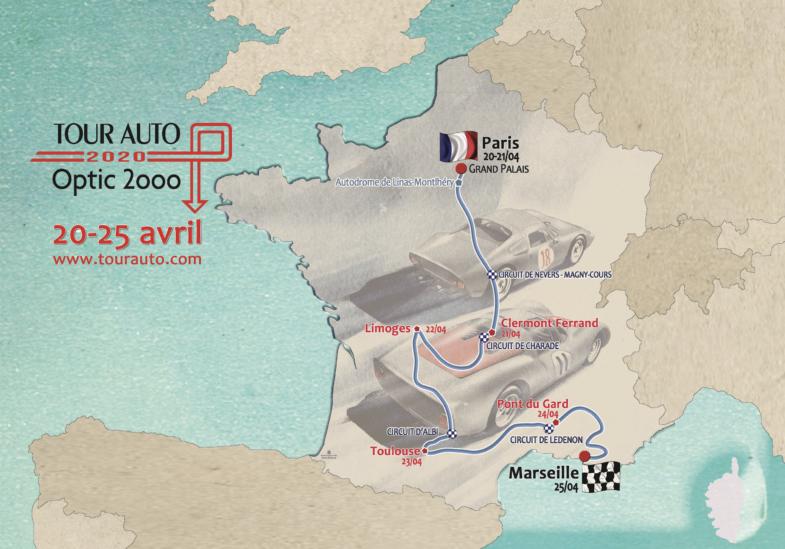 Tour auto, Tour Auto 2020, voitures anciennes, sport auto, rallye historique, parcours