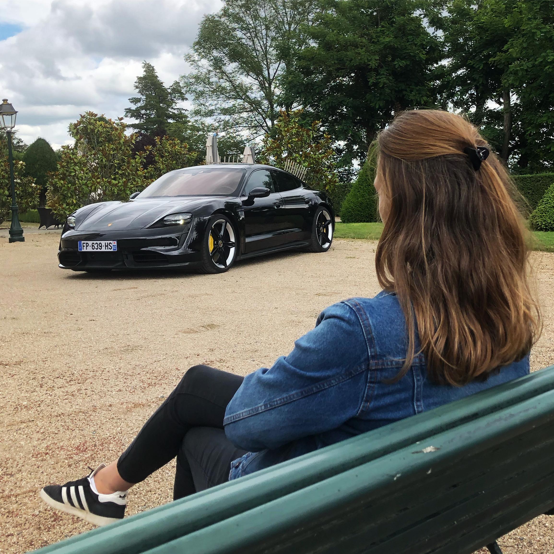 Porsche, Taycan, voiture électrique, essai auto, mobilité durable , clémence de bernis