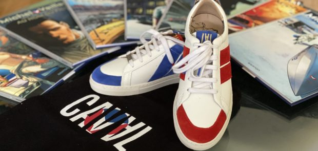 caval, michel vaillant, vaillant, basket, sneakers, BD, collaboration, mode, mode et voiture