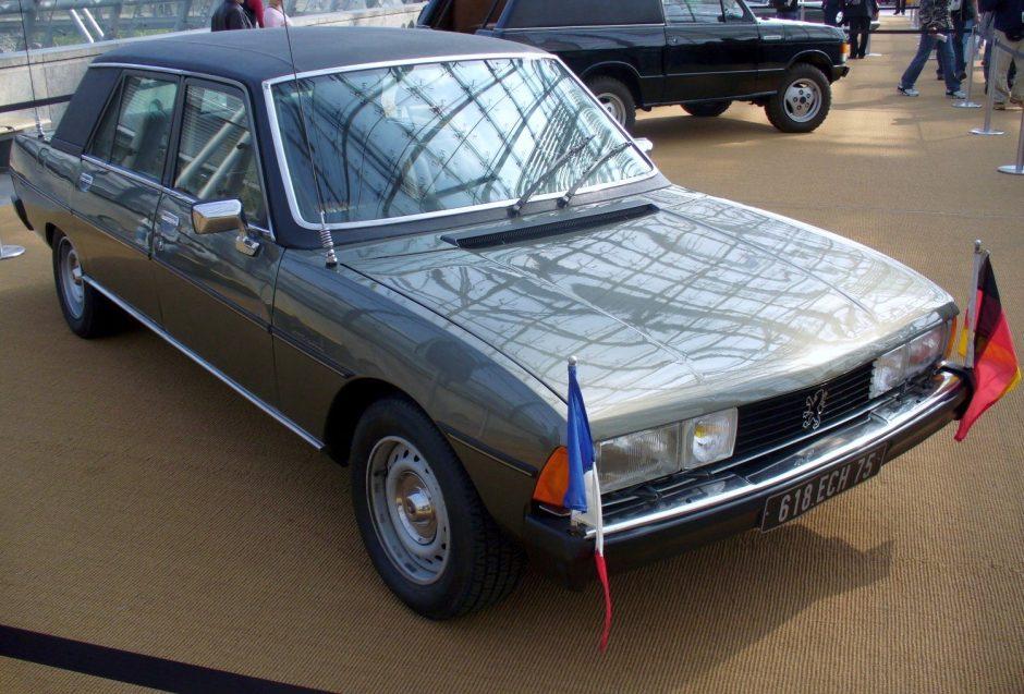 Valéry Giscard d'Estaing, président de la republique, voiture presidentielle, peugeot, citroen, politique automobile, politique, peugeot 604