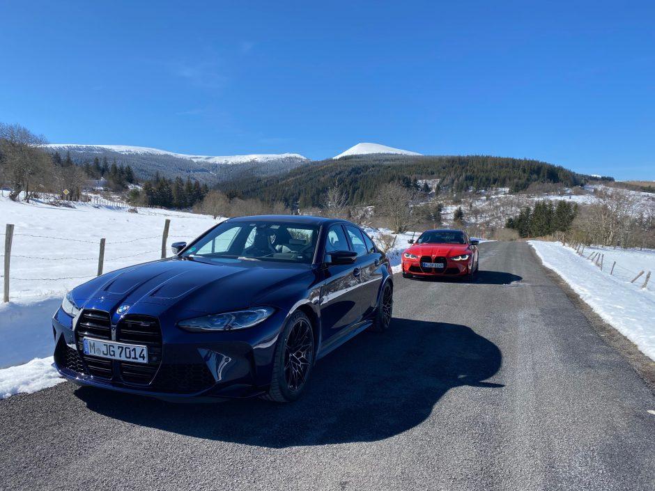 BMW,M3 competition, BMW M3, circuit, BMW M, voiture, de sport, berline, M4 competition, BMW M4