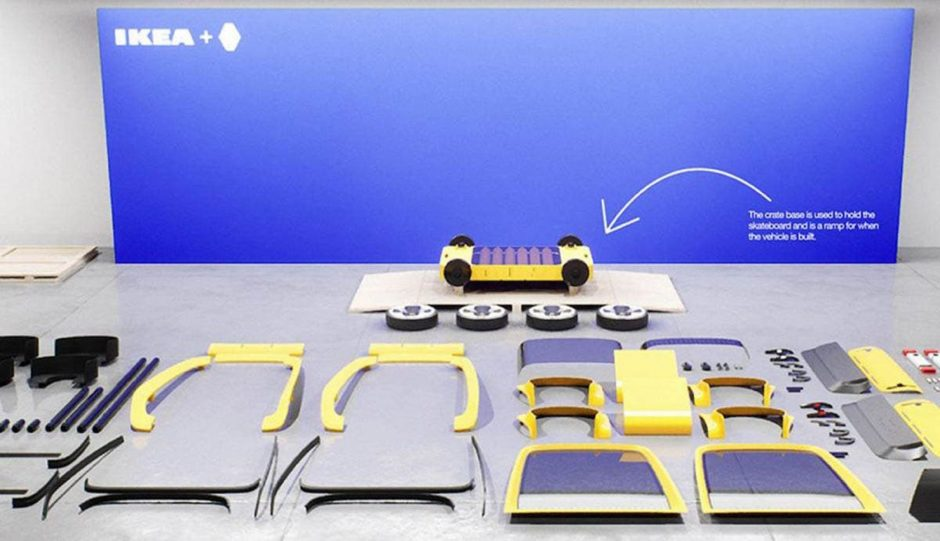 Renault, Hoga, citadine, concept-car, voiture electrique, ikea, voiture en kit