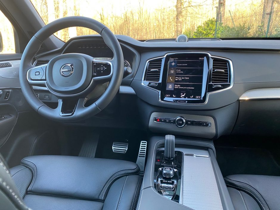 volvo, Volvo XC90, suv, SUV familial, voiture familial, voiture 7 places, habitacle